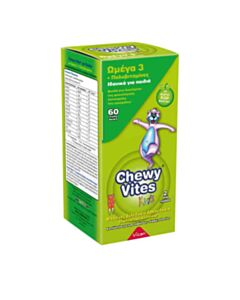VICAN Chewy Vites Jelly Bears-Omega 3 + Multivitamin, 60 μασώμενα ζελεδάκια