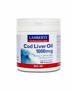 LAMBERTS COD LIVER OIL 1000MG 180CAPS  (Ω3&VIT.A,D&E)