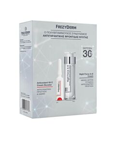 FREZYDERM Promo Night Force A+E Cream 50ml & Antioxidant Vit C Cream Booster 5ml