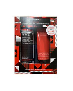 KORRES Promo Vetiver Root, Green Tea, Cedarwood Showergel 250ml & Aftershave Balm 125ml