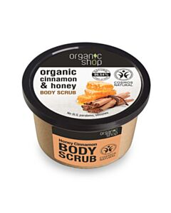 NATURA SIBERICA  Organic Shop Body scrub Honey Cinnamon, Scrub σώματος, Κανέλα & Μέλι 250ml